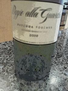 Italian Red wine bottle