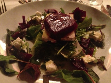 The Old Plow - beetroot and goat's cheese