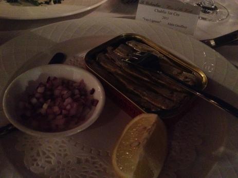 Sardines..in a tin!