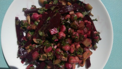 Chickpea and beetroot salad